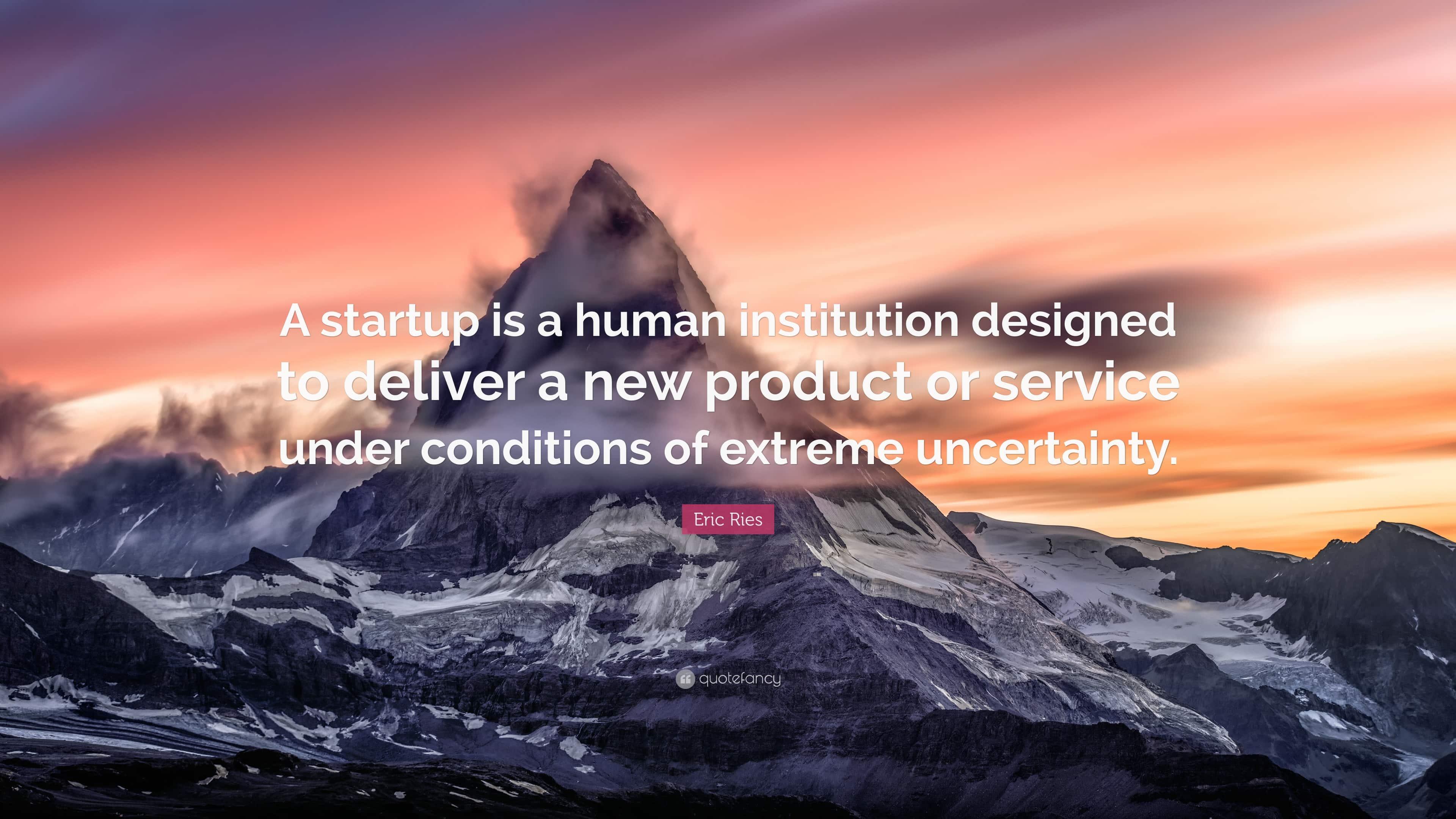 Startup to dostarczanie produktu lub usługi. Eric Rise