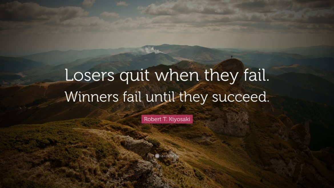 9 na 10 startupów upada - QUOTE Losers quit when they fail